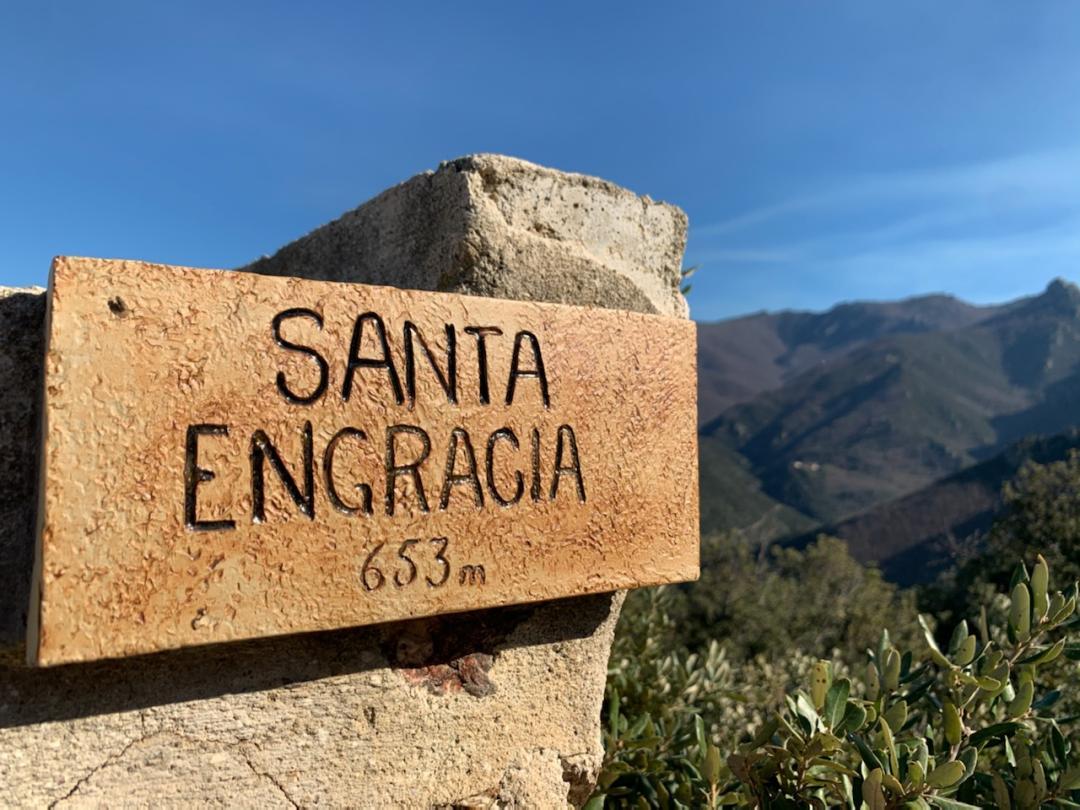 Panneau Santa Engracia - Amélie les Bains
